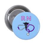 RN Stethoscope 2 Inch Round Button