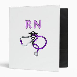 RN Stethoscope 3 Ring Binder