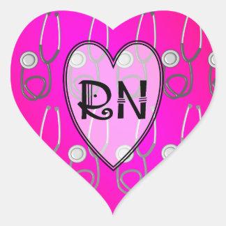 RN Stethoscope Design Heart Sticker