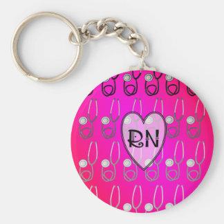 RN Stethoscope Design Keychain