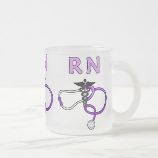 RN Stethoscope Frosted Glass Coffee Mug