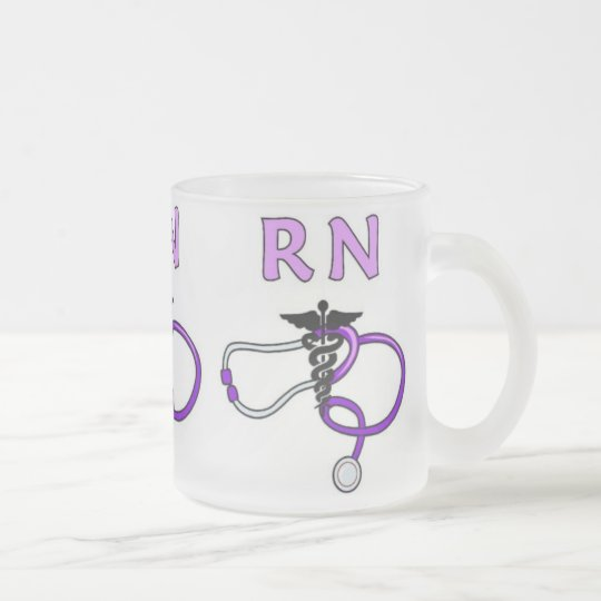 RN Stethoscope Frosted Glass Coffee Mug
