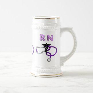RN Stethoscope 18 Oz Beer Stein