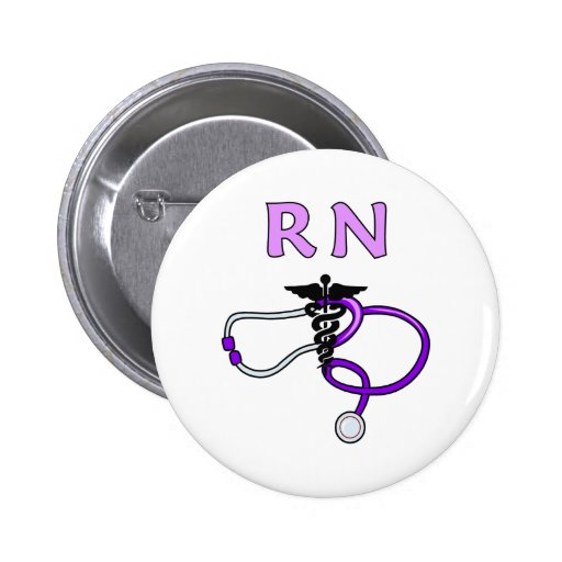 RN Stethoscope Pinback Button