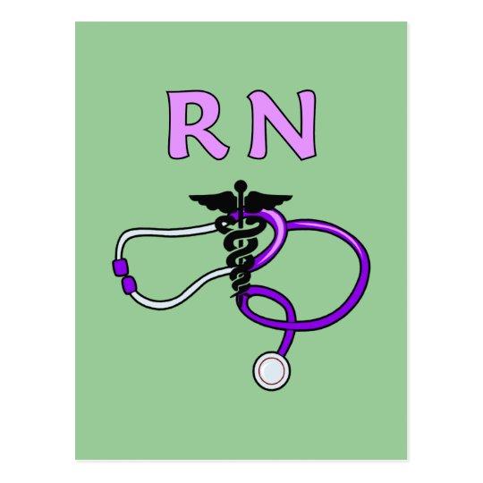 RN Stethoscope Postcard