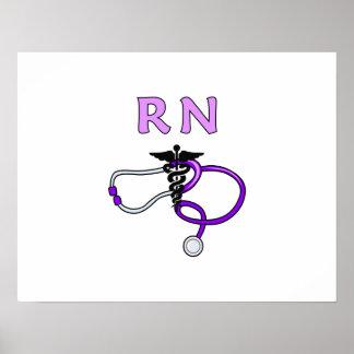 RN Stethoscope Poster
