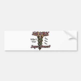 RN Super Power Bumper Sticker