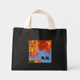 RN Tote Bags Colorful Autumn Leaves Nurse Totes