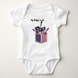 RN USA FLAG BOX O FIREWORKS - REGISTERED NURSE BABY BODYSUIT