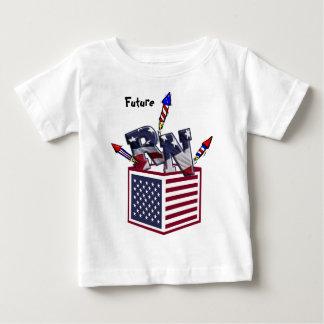 RN USA FLAG BOX O FIREWORKS - REGISTERED NURSE BABY T-Shirt