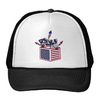 RN USA FLAG BOX O FIREWORKS - REGISTERED NURSE TRUCKER HAT