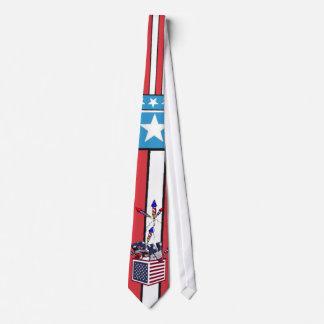 RN USA FLAG BOX O FIREWORKS - REGISTERED NURSE TIE