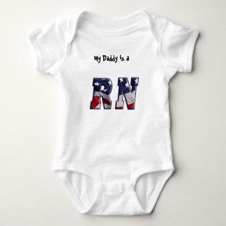 RN USA FLAG WRAP REGISTERED NURSE BABY BODYSUIT