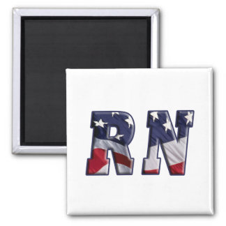 RN USA FLAG WRAP RN MAGNET