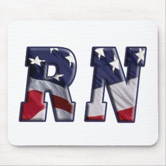RN USA FLAG WRAP RN MOUSE PAD