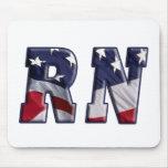 RN USA FLAG WRAP RN MOUSE PADS