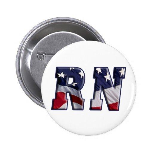 RN USA FLAG WRAP RN PIN