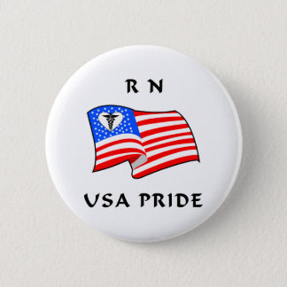 RN USA Pride Pinback Button