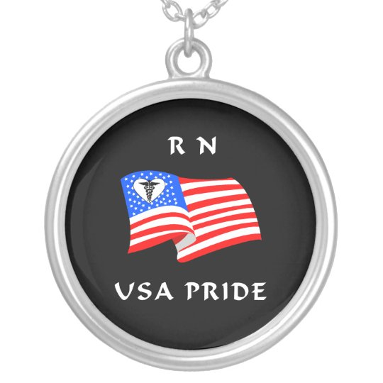RN USA Pride Silver Plated Necklace