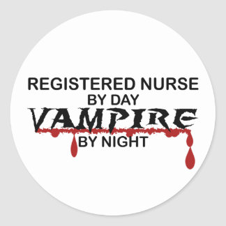 RN Vampire by Night Classic Round Sticker