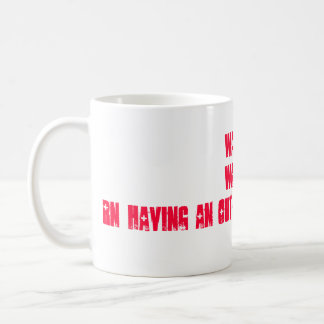 RN - WARNING !! CLASSIC WHITE COFFEE MUG