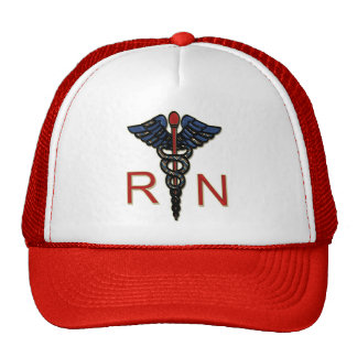RN With Caduceus Mesh Hats