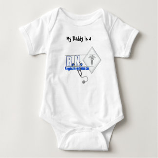 RN WITH STETHESCOPE REGISTERED NURSE BABY BODYSUIT