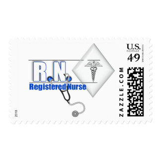 RN WITH STETHESCOPE REGISTERED NURSE STAMP