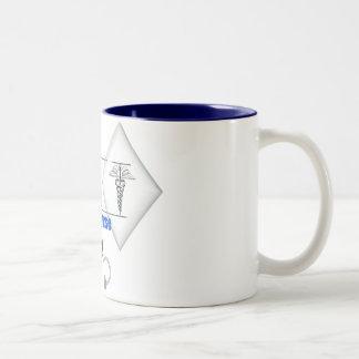 RN WITH STETHESCOPE REGISTERED NURSE Two-Tone COFFEE MUG