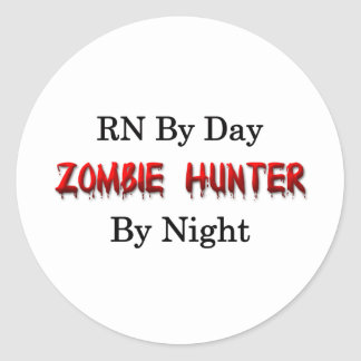 RN/Zombie Hunter Classic Round Sticker