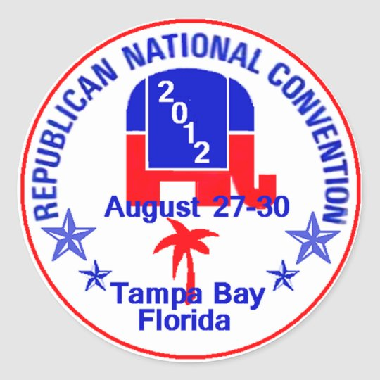 RNC Convention Classic Round Sticker