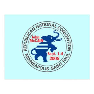 RNC Convention McCAIN Postcard Republican