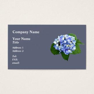 Rnd+CartographersDeskBlue and Purple Hydrangea Business Card