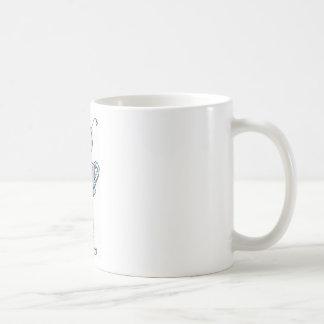 Ro bott classic white coffee mug
