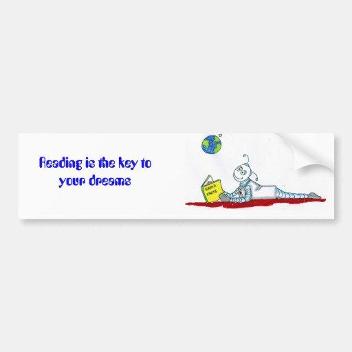 ro bott reading bumper sticker