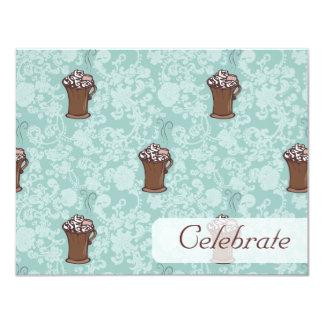 """Ro-Cocoa, 4.25""""x5.5"""" invitation"""