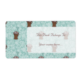 Ro-Cocoa, bookplates or shipping labels Shipping Label