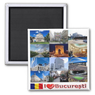 RO - Romania - Bucharest I Love Mosaic Collage Magnet