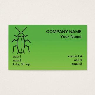 roach bug outline business card