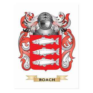 Roach Coat of Arms (Family Crest) Postcard