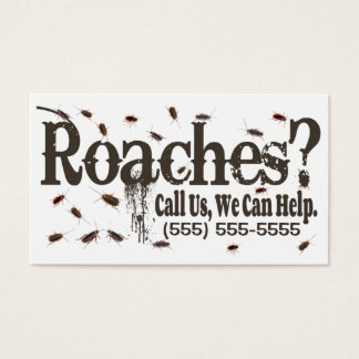 Roach Exterminator Advertisement Business Card
