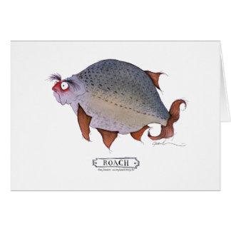 Roach fish, tony fernandes greeting card