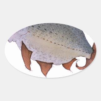 Roach fish, tony fernandes oval sticker