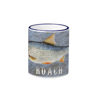 Roach Freshwater Fish, With Water Background Image Ringer Coffee Mug