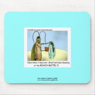 Roach Motel Funny Cartoon Mouse Pad