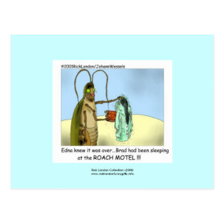 Roach Motel Funny Cartoon Post Card