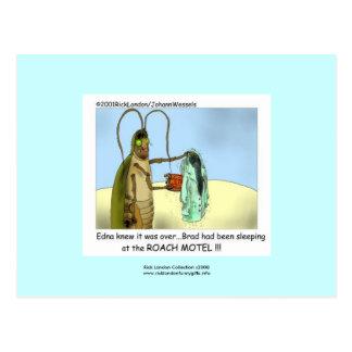 Roach Motel Funny Cartoon Post Card