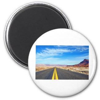 Road 2 Inch Round Magnet