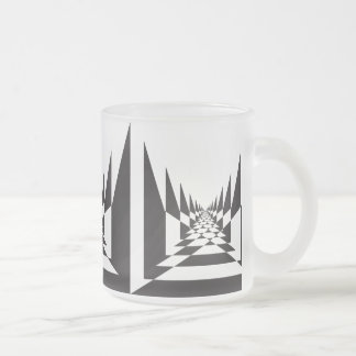 road abstract angular perspective frosted glass coffee mug