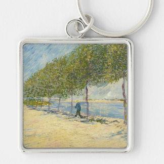 Road along the Seine near Asnieres, Van Gogh Keychain